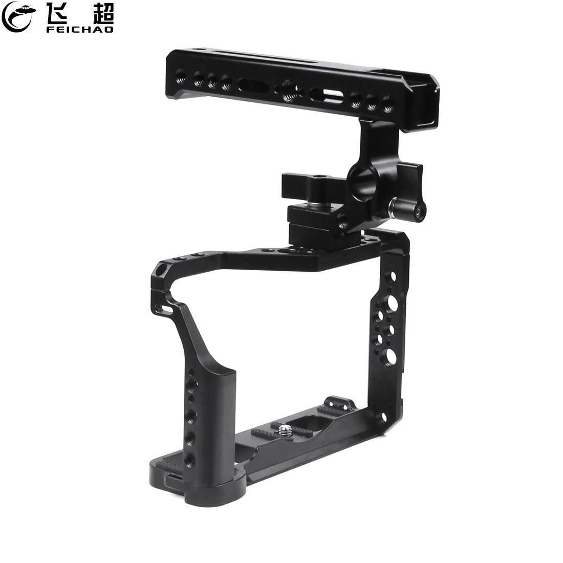XT2 XT3 DSLR كاميرا قفص الأعلى مقبض استقرار تزوير ل فوجي فيلم X-T3 X-T2 DSLR واقية حالة ترايبود Ballhead Vlog اكسسوارات