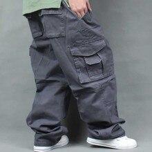 Artı Boyutu Gevşek Baggy Kargo Pantolon Erkekler Rahat harem pantolon Pamuk Geniş Bacak Pantolon Hip Hop Joggers Pantolon Erkek Giyim