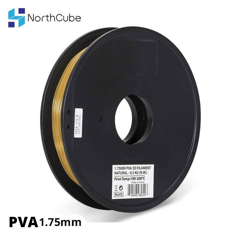 NorthCube PVA Filament 1.75mm Dissolvable 3D Print Filament 0.5kg/Spool Compatible With Almost All 3D Printers
