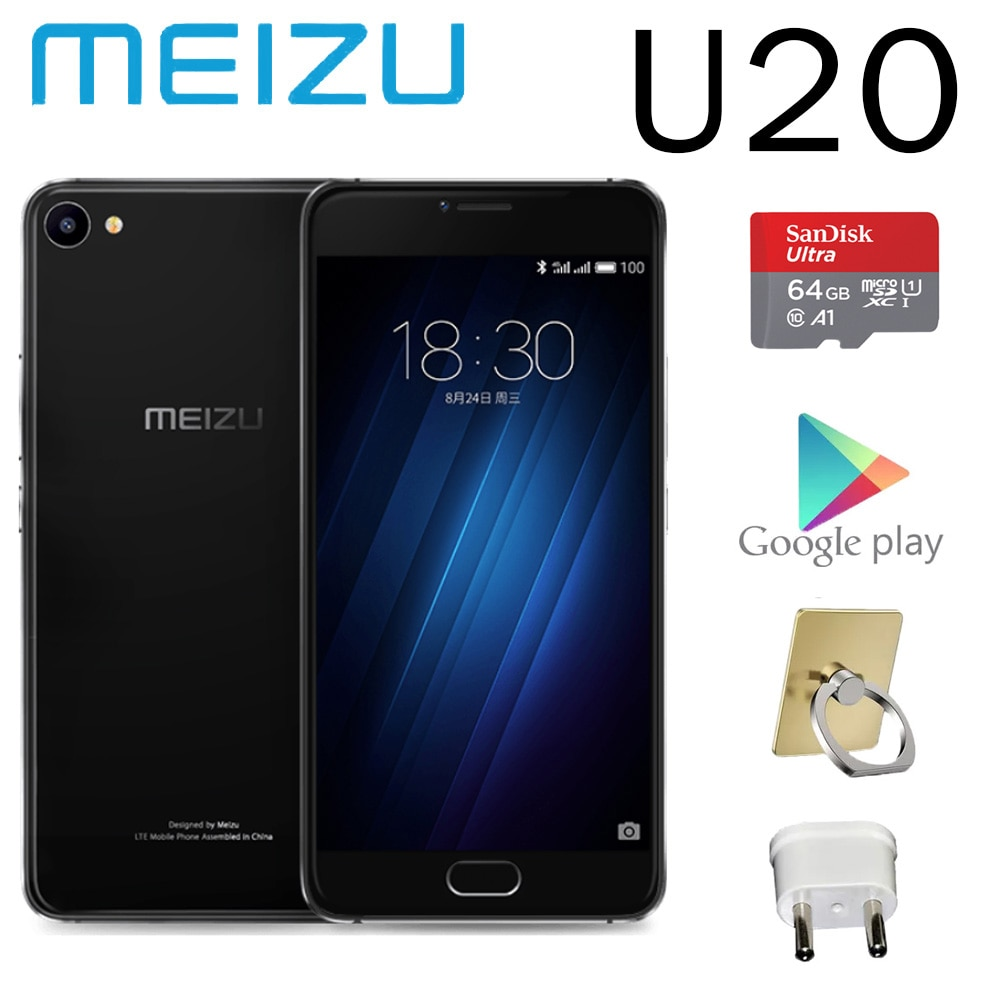 smartphone 98%new meizu U20 2G RAM 16G ROM 3260mAh battery 5.5 inches screen global version SanDisk memory card TF card