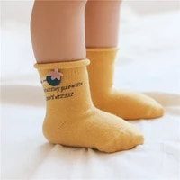 spring and summer new loose mouth baby socks for girl cartoon accessories letters socks for boy newborn
