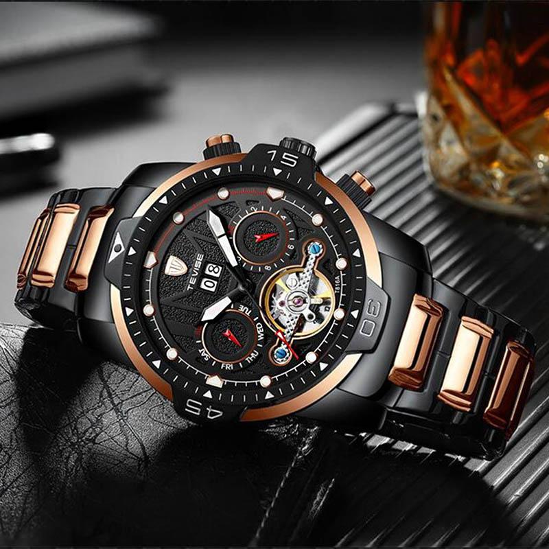 Relogio Automatic Self-Wind Mechanical Watches Top Brand Luxury Watch Men Tourbillon Mechanical Watc