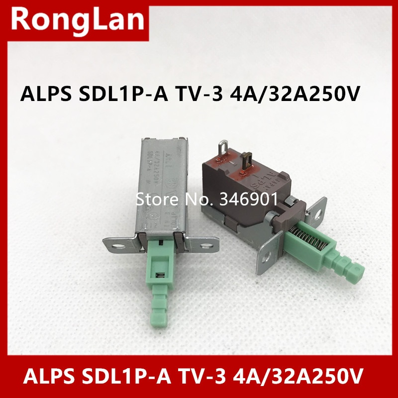 SDL1P-A de interruptor de llave importada Alps TV-3 4A/32A250V con orificio de tornillo de bloqueo switch-10PCS de alimentación de pie de orificio de alta corriente/lote