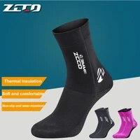 zcco 3mm neoprene diving socks super elastic non slip diving fins adult children scuba spearfishing snorkeling swimming socks
