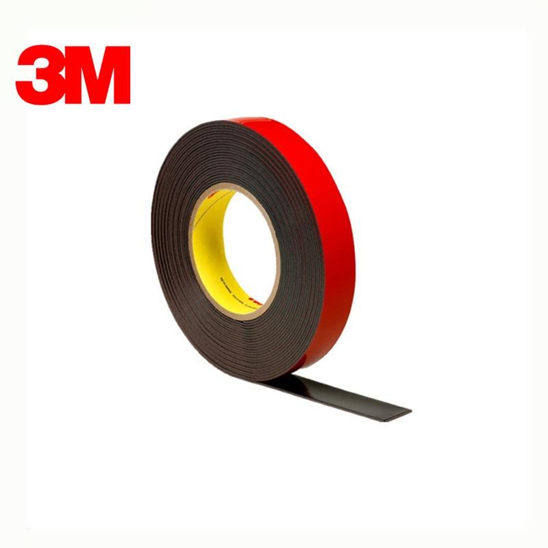 3M PT1100 الاكريليك زائد الشريط ، أسود ، 45 Mil انخفاض الشحن