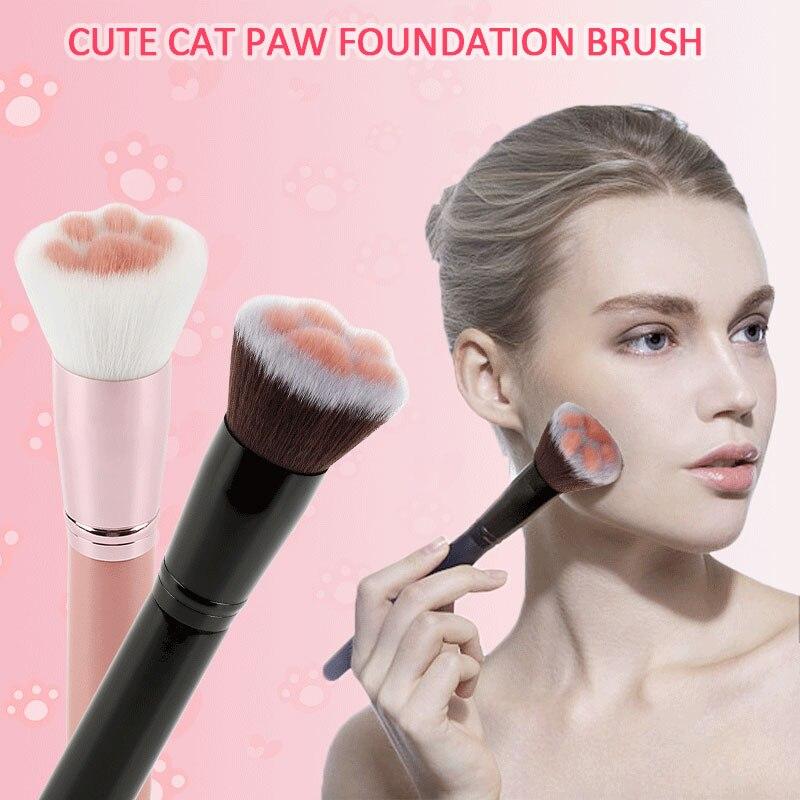кисти для макияжа Кисти для макияжа супер милые 1 шт. щетка для ног кошки Румяна деревянная ручка основа смешивание лица Косметическая кисть, бьюти-инструмент инструменты для макияжа