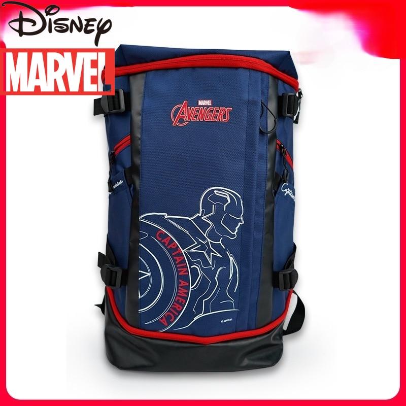 Disney Marvel Captain America Men's Computer Bag Backpack Outdoor Sports Leisure Fashion Waterproof Large Capacity