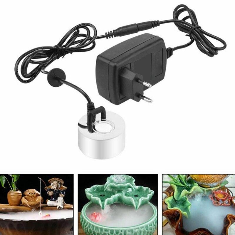AD-Ultrasonic Mist Maker Fogger Water Fountain Pond Atomizer Air Humidifier EU Plug