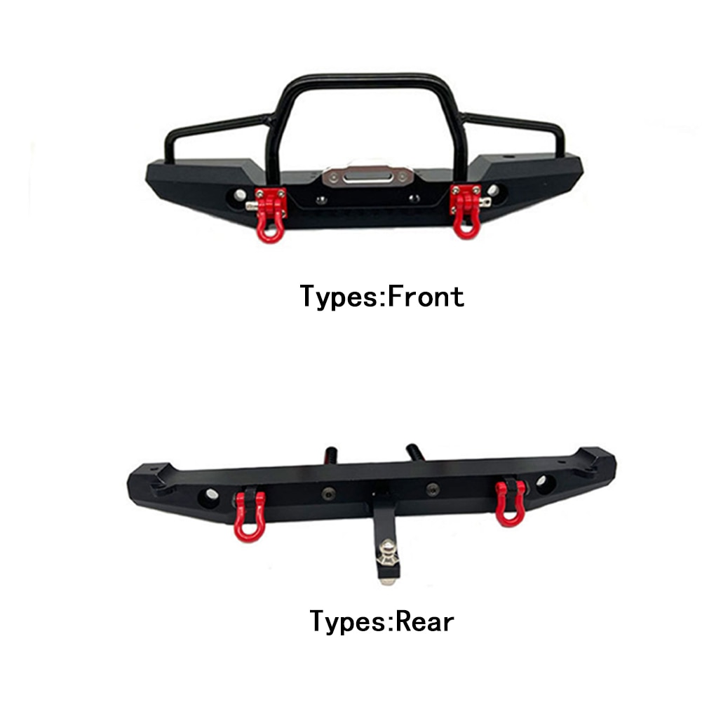 1:10 Front Rear RC Crawler Metal Bumper Durable Lightweight Professional DIY Easy Install Kids Toy F