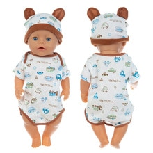 Baby New Born Fit 17 inch 43cm Doll Clothes Accessories JumpSuit For Baby Birthday Gift