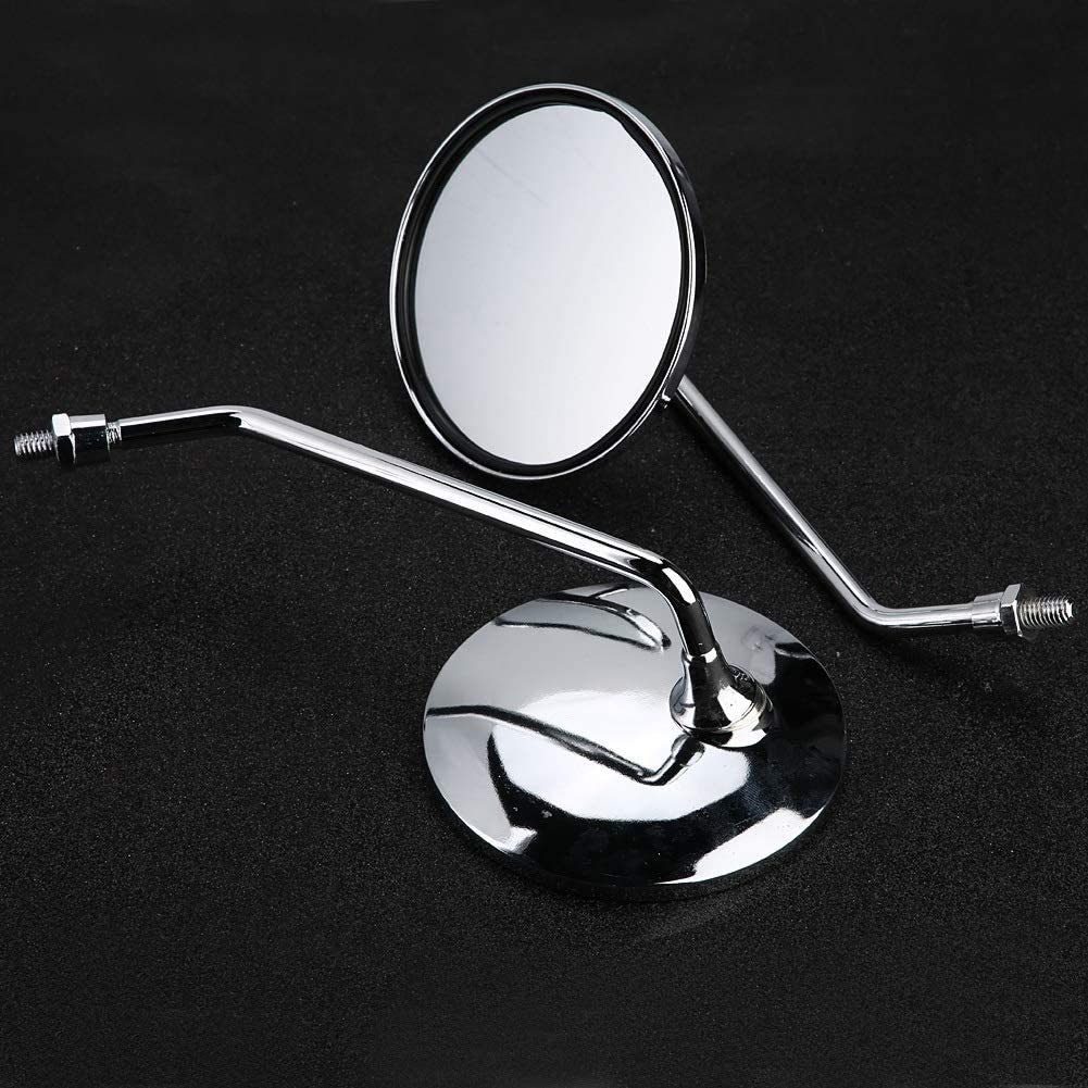 Motocicleta espelho retrovisor 4.3 Polegada chrome espelho redondo espelhos retrovisores para honda sl230 xr230 xr250 xr400 xr125 xr 250 400