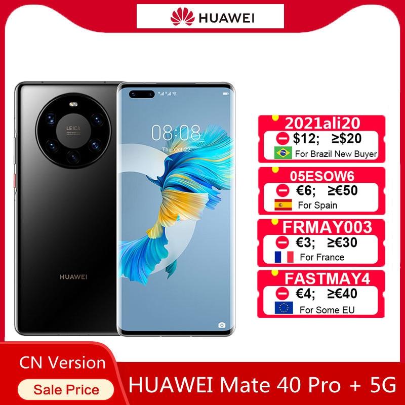Оригинальный Huawei Mate 40 Pro + 12 Гб оперативной памяти 256 ГБ ROM 6,76 дюйм OLED экран Kirin 9000 5G 50MP камера IOS 10X зум для мобильного телефона