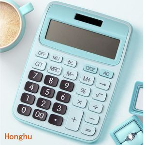 Desk Calculator Large Buttons Financial Business Accounting Tool Pink Blue Black big buttons battery and solar power  12 Digit