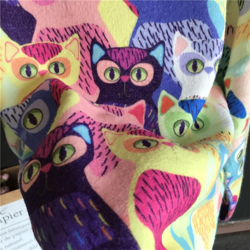 Women Fall Cartoon Animal Cat Embroidery Pullover Knitting Sweater Female Casual Warm Harajuku Sweet Kawaii Winter Clothes enlarge