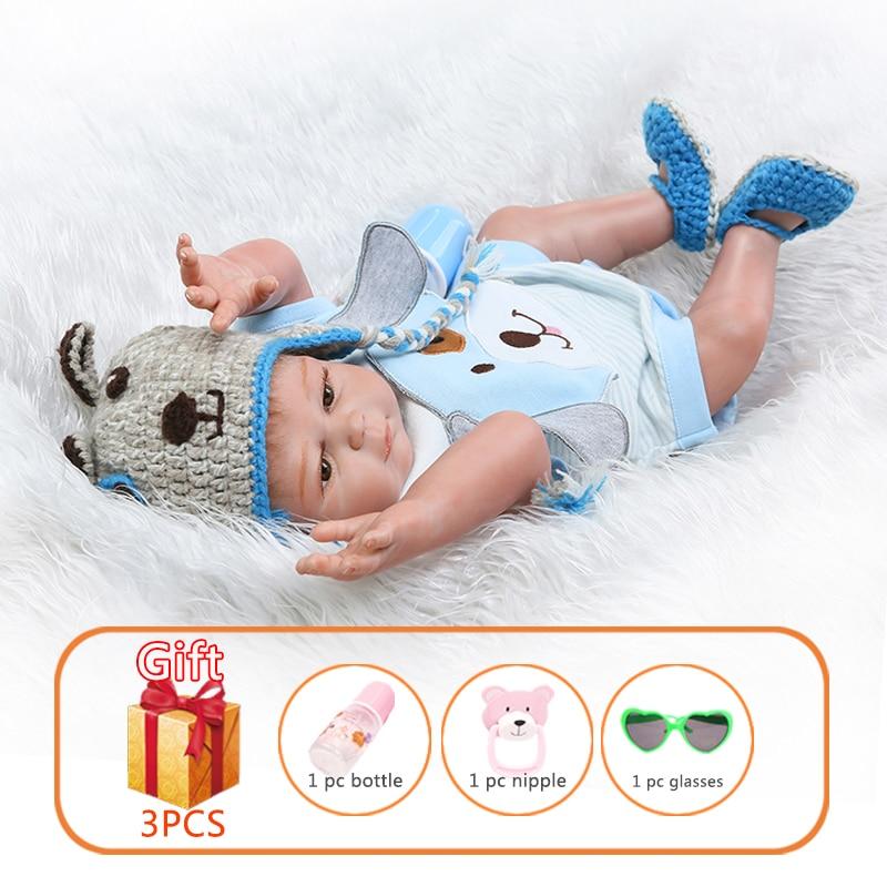 NPK, muñeco de bebé Reborn de 50 cm, gemelos con simulación de cachorro, muñeca de bebé de silicona, muñecas Reborn para niños pequeños, juguetes para niños