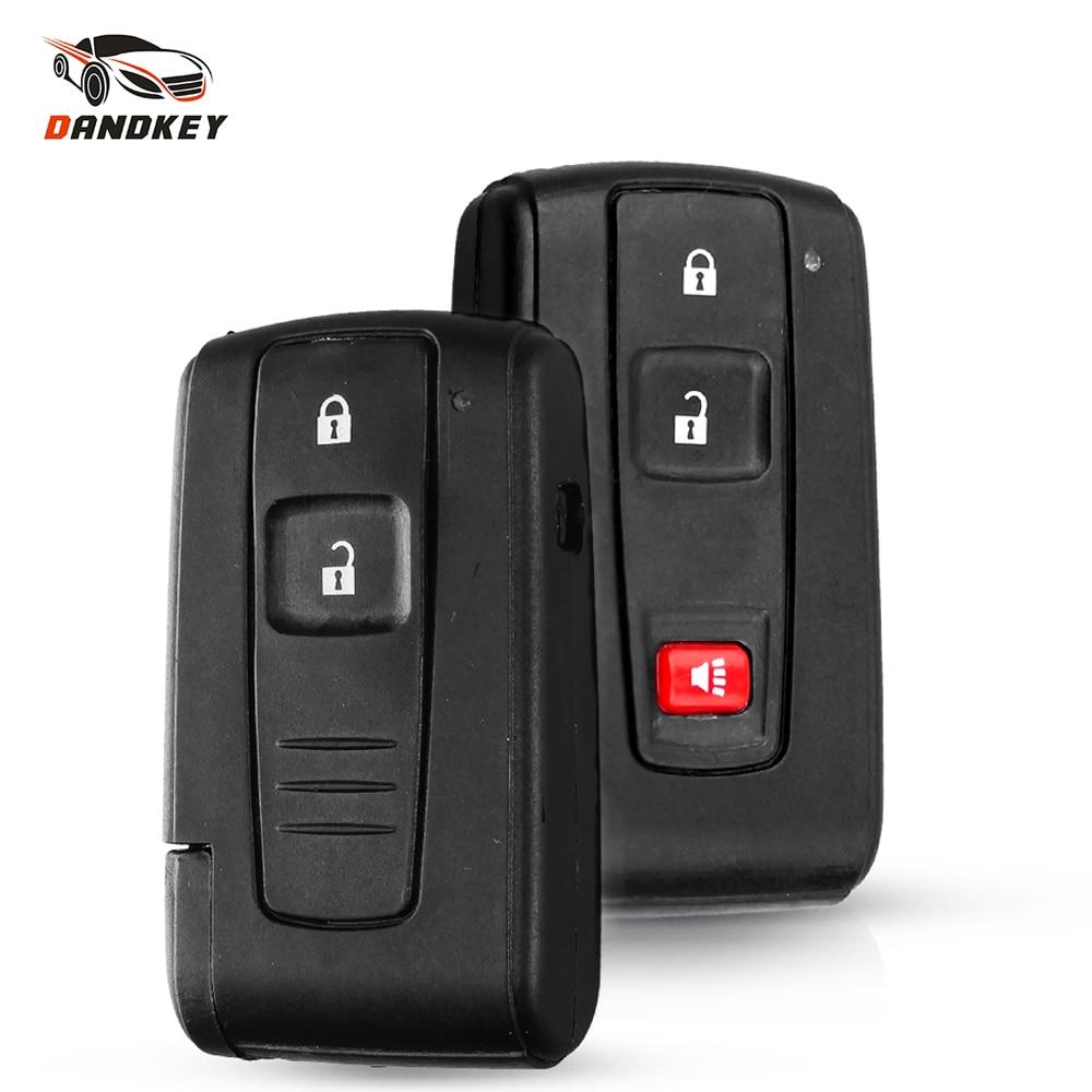 Dandkey 2 2+1 3 Buttons For Toyota Prius 2004-2009 Corolla Chr Yaris Rav4 Auris Car Key Case Shell Fob Replacement Smart Key