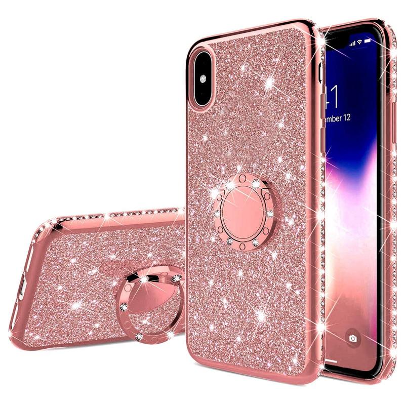 Funda de teléfono con purpurina de diamante para Huawei P40 Pro P20 P30 P10 Mate 30 Pro 20 Lite 20X 10 8 P Smart Z Plus 2019, funda blanda, Capa