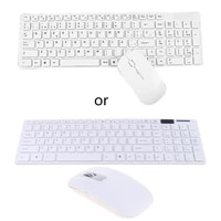 w3jd universal silent ultra thin 2 4g wireless keyboard and mouse set for laptop pc computer