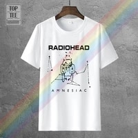 radiohead amnesiac ok computer mens black white t shirt cool casual pride t shirt men unisex new fashion tshirt loose size top