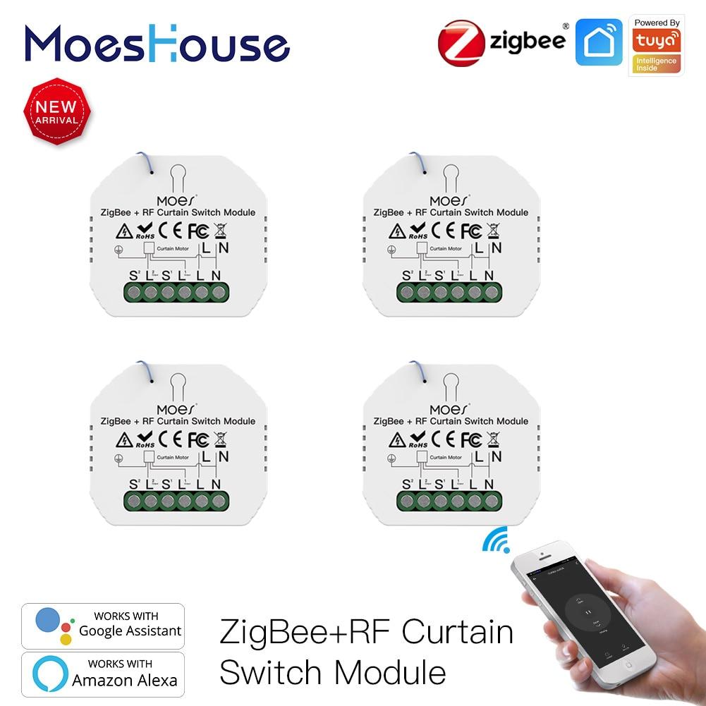 MoesHouse زيجبي تويا الحياة الذكية المنزل الذكي التحكم عن بعد الستار الستائر أعمى موتور الستائر الذكية جوجل المنزل
