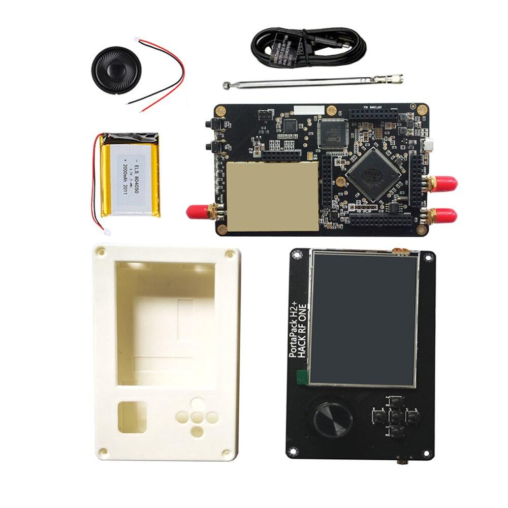 شاشة 3.2 بوصة تعمل باللمس LCD PortaPack H2 + 0.5ppm TXCO + هاكرف واحد SDR راديو مع حافظة بطارية 2000MAh لراديو هام