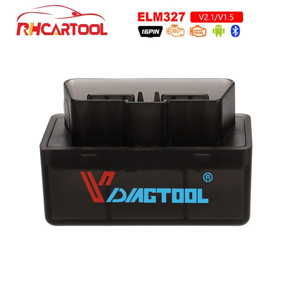 2019 Super Mini OBD2 Elm327 Bluetooth OBD2 V1.5 Elm 327 V 1,5 OBD 2 Auto escáner de código Elm-327 OBDII adaptador coche herramienta de diagnóstico