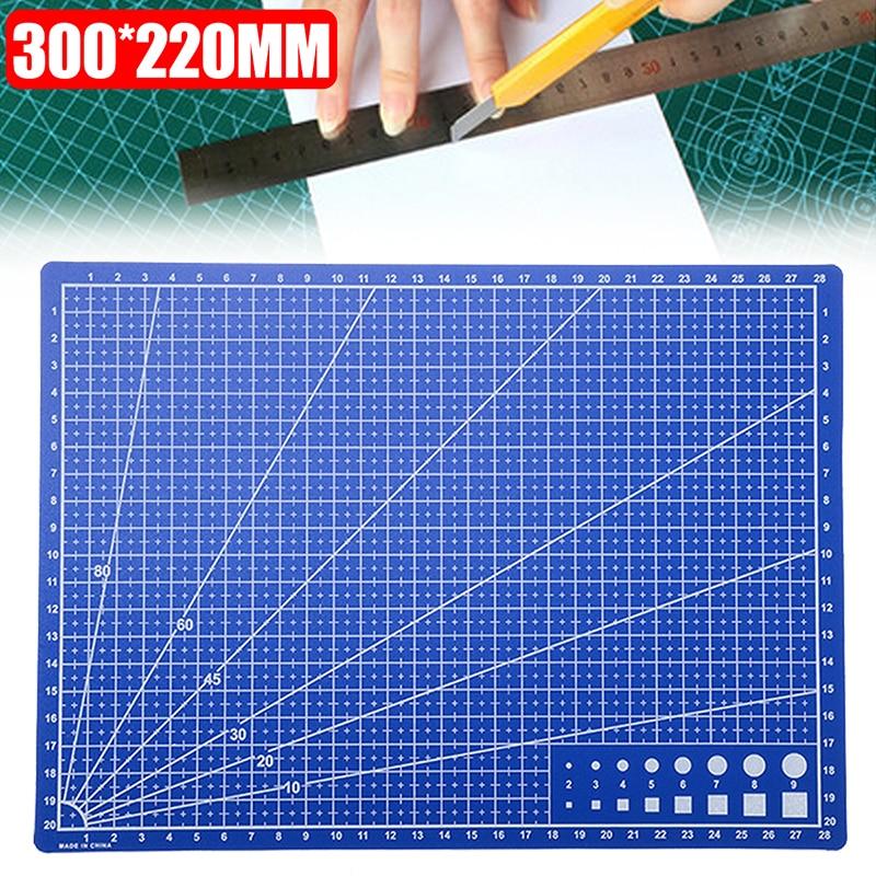 1 Pza A4 cuadrícula de doble cara para líneas tabla de corte estera de corte automático Tabla de papel de corte DIY Durable