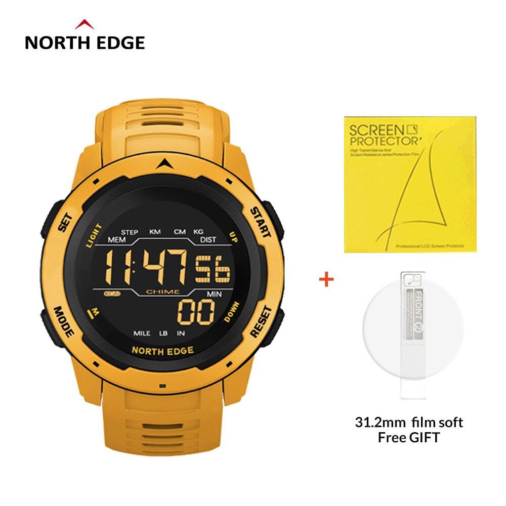 NORTH EDGE MARS Men's Sport Smart Watch Men Running Swimming Waterproof 50M Electronic clock Redometer ightweight Smartwatch
