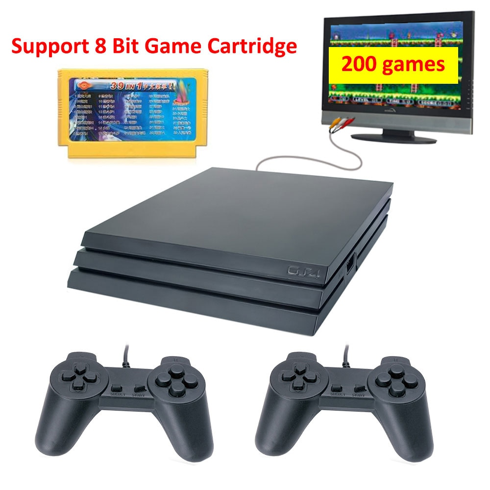 AliExpress - Retro Game Console 8 Bit GS4 PRO Built in 200 Games AV Output Support Cartridge  TV Video Game Console