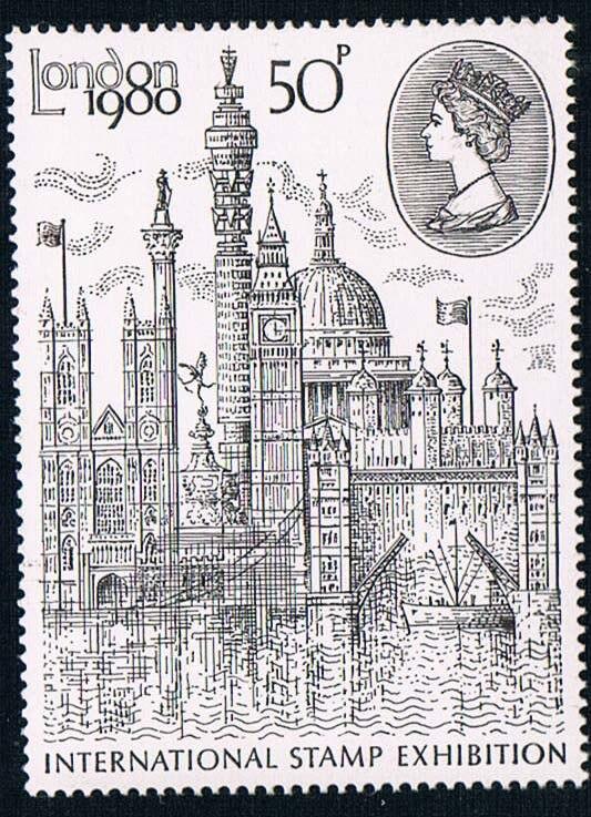 1 unids/set nuevo UK GB3049 Inglaterra británica sello postal 1980 panorámico de Londres sellos escultura MNH Filatelia