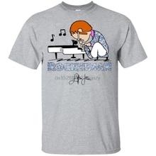 Camiseta divertida de Elton John que toca el Piano Rocketman para hombres S-3Xl Streetwear