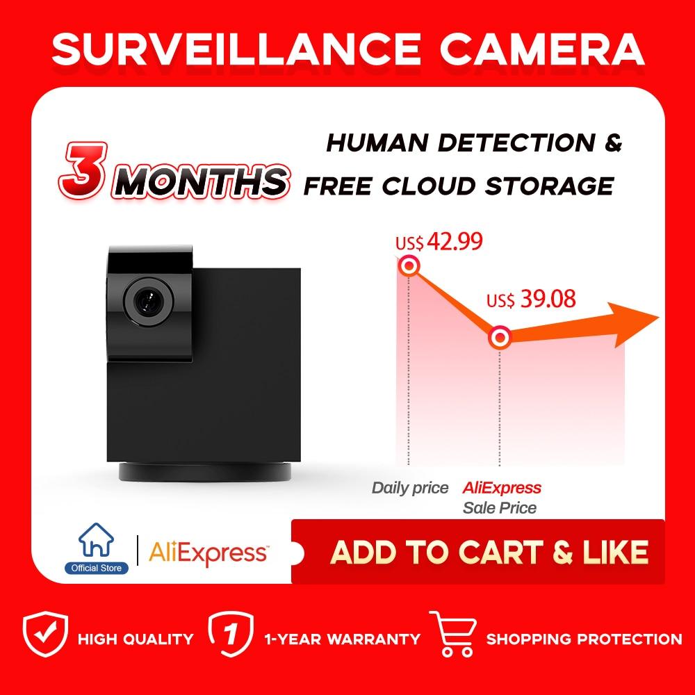 Cámara Ip 1080P HD Wifi para interiores/bebés/mascotas, cámara web negra, sistema de cámaras de seguridad, trabajo inalámbrico con 3 meses de nube gratis