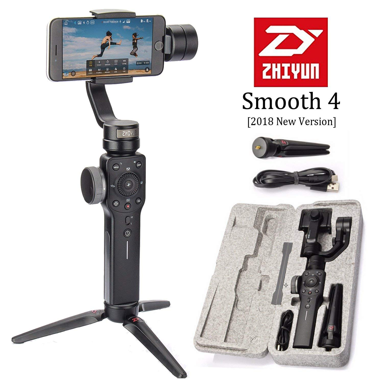 Zhiyun السلس 4 3-Axis يده الذكي مثبت Gimbal آيفون Xs ماكس X 8 7 و سامسونج S9 ، S8 و عمل كاميرا Vlog لايف
