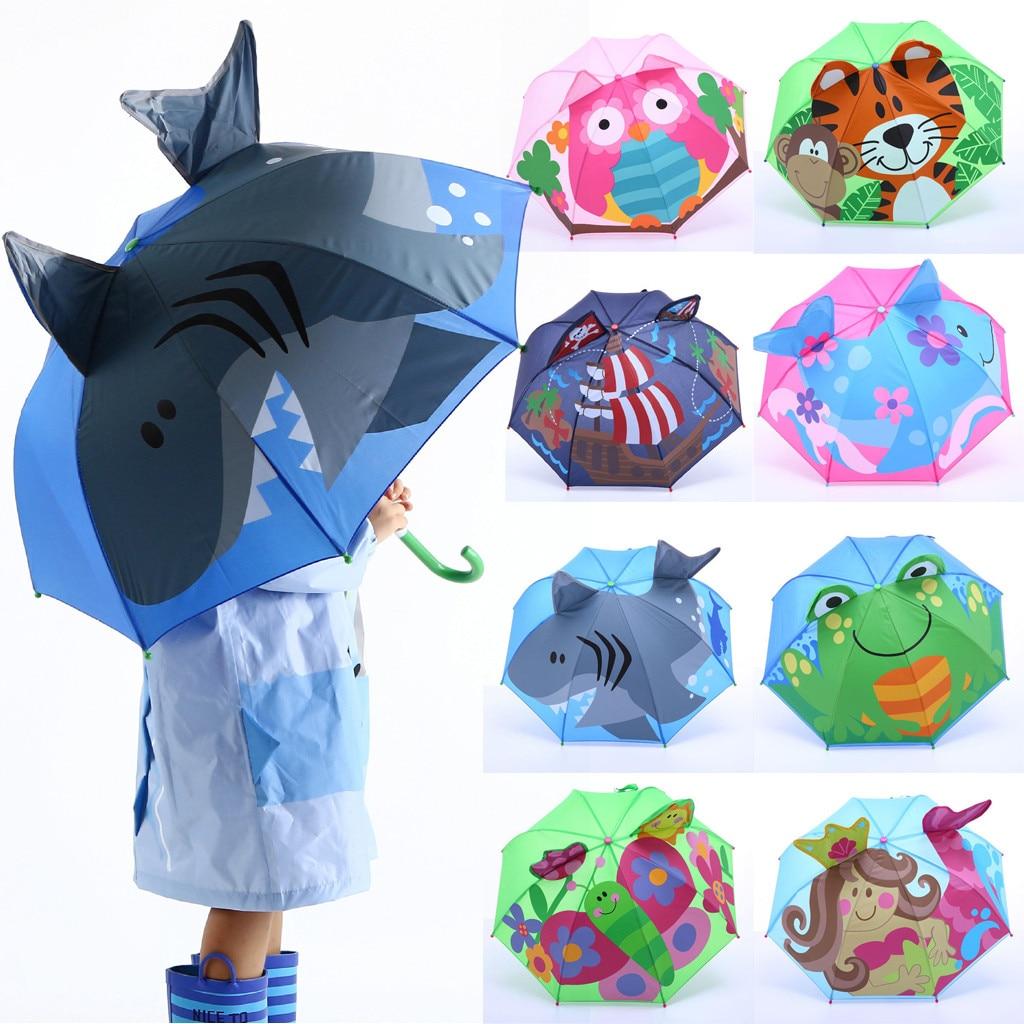 Baby Cover Parasol For Sun Rain Protection UV Rays 3D Cartoon Outdoor Umbrella Wind Resistant Windproof Sunscreen Umbrella