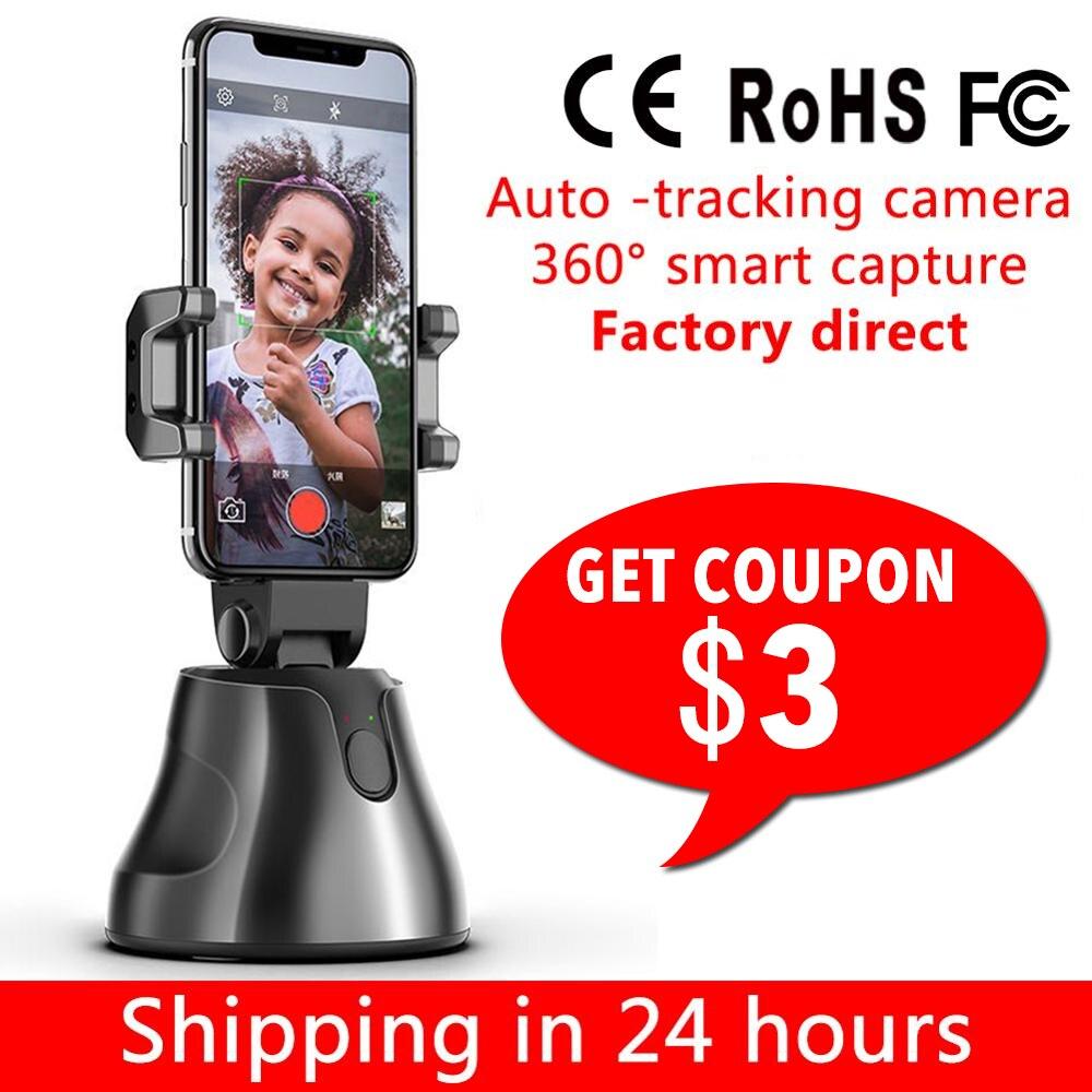 Soporte para Selfie Smart Shooting soporte para Smartphone montaje 360 rotación Auto seguimiento de cara objeto seguimiento vlog Cámara soporte para teléfono