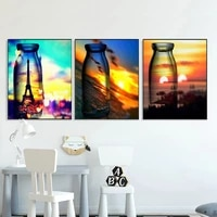 chenistory 3pc bottle diy oil picture by numbers frame on canvas acrylic paint handmade color drawing painting by number decor