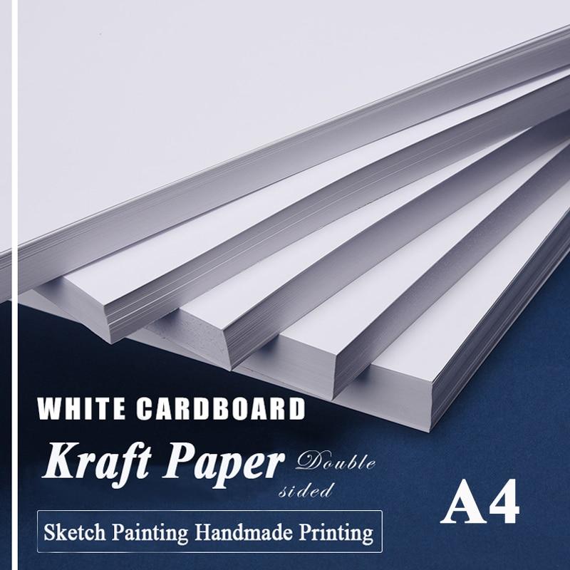 Белая крафт-бумага формата а4 для рукоделия, доска для карточек, бумага для рукоделия, толстая бумажная доска для граффити, 20 50 листов в упако...