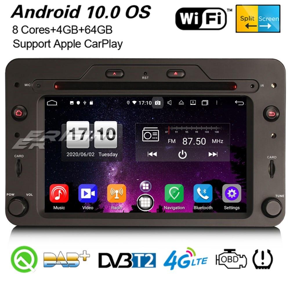 Erisin 8720 8 cœurs Carplaly Android 10.0 DAB + GPS autoradio DSP WiFi CD OBD2 BT Navi pour Alfa Romeo 159 Sportwagon Brera Spider