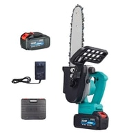 electric chainsaw cordless protable chainsaw for wood cutting 12 inch 21v rechargeable lithium battery in stock