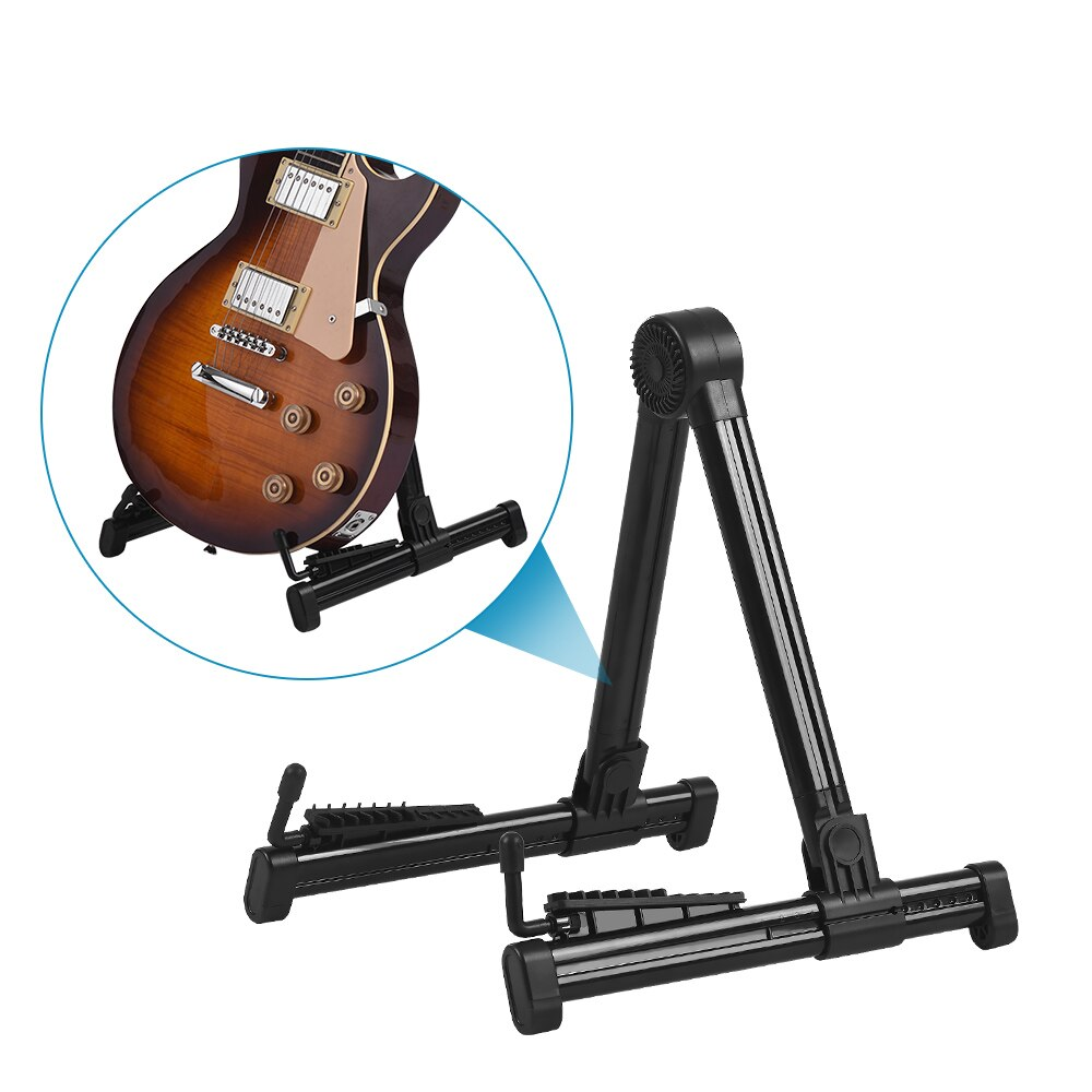 Soporte de guitarra ABS ligero retráctil plegable soporte para bajo guitarra violín ukelele soporte de guitarra porta guitarra soporte