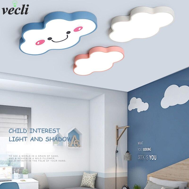 Современные светодиодные потолочные светильники с облаком, Железный Абажур, потолочные лампы для детей, маленьких принцесс, девочек, мальч...