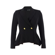 Peplum Blazer For Women Spring Jackets for women Fashion 2021 Outfit Black Tops