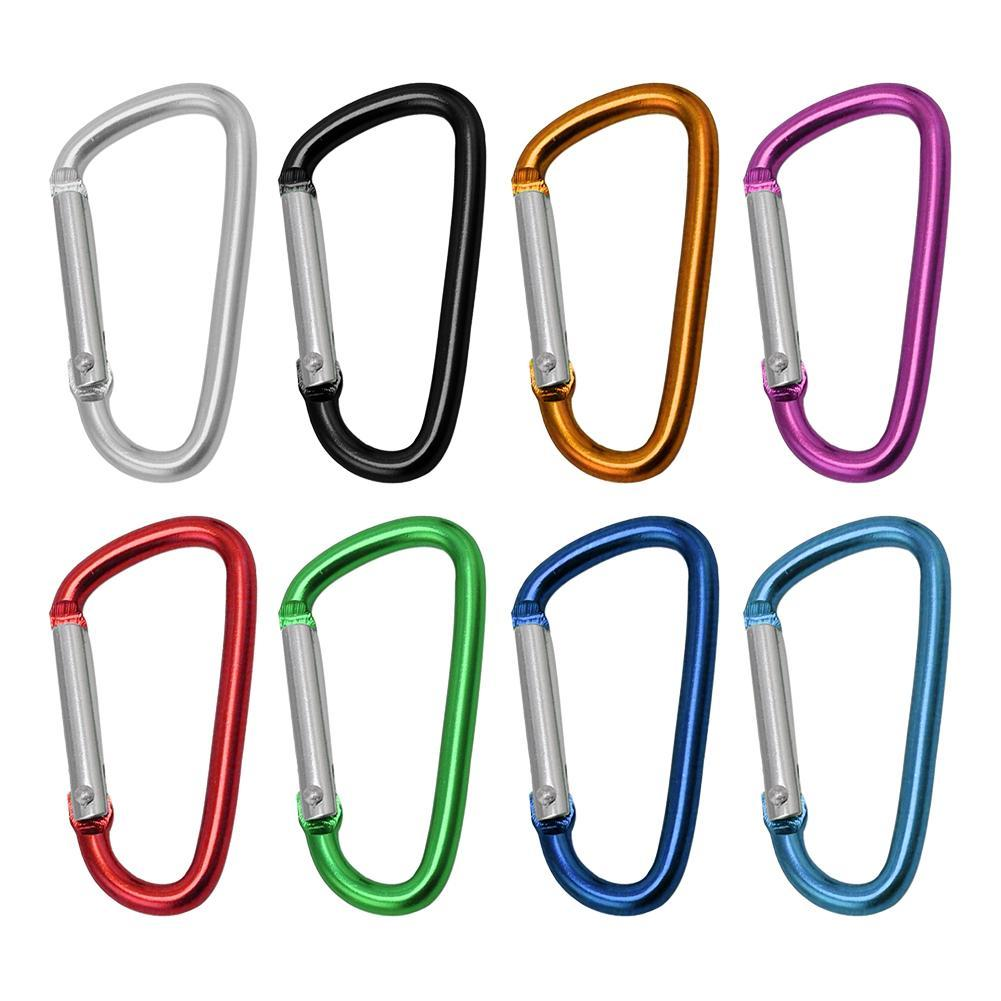 3 unids/set escalada al aire libre de aleación de forma de D hebilla mosquetón Survial clave cadena subir gancho hebilla de mochila llavero