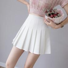 Zoki-minifalda plisada con cremallera para mujer, falda Sexy de cintura alta, elegante, rosa, estilo coreano, para baile
