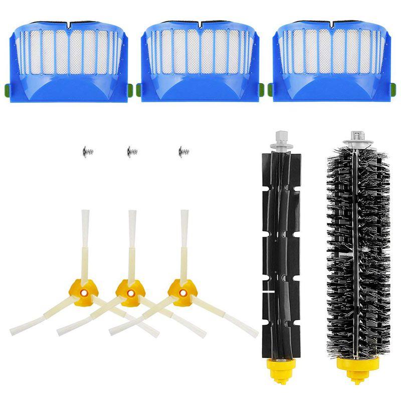 HOT-Replacement Brush Kit Maintenance Kit for Roomba 600 Series Cleaning Kit Brush Filter
