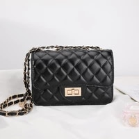 brand designer pu leather quilted crossbody bags for women fashion chain shoulder bags lady luxury lock small handbags