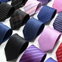 Cravate pour hommes 67 Styles   Couleur unie, bande, fleur, 8cm, Jacquard, accessoires, vêtements quotidiens, cadeau de fête de mariage