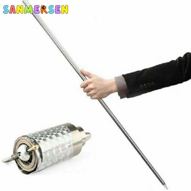 Magia que aparece bastón Metal plata magia Primer plano ilusión seda a varita divertidos dispositivos aro de oro juguetes para niños juegos