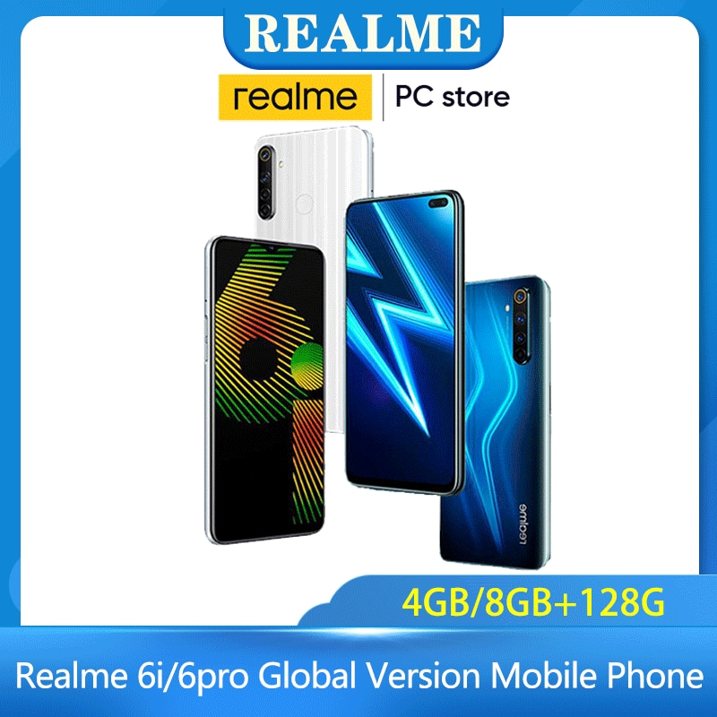 Realme 6i/6pro Global Version Mobile Phone 90Hz Display Helio G90T Smartphone Flash Charge 4300mAh 64MP Camera Cellphone Brazil