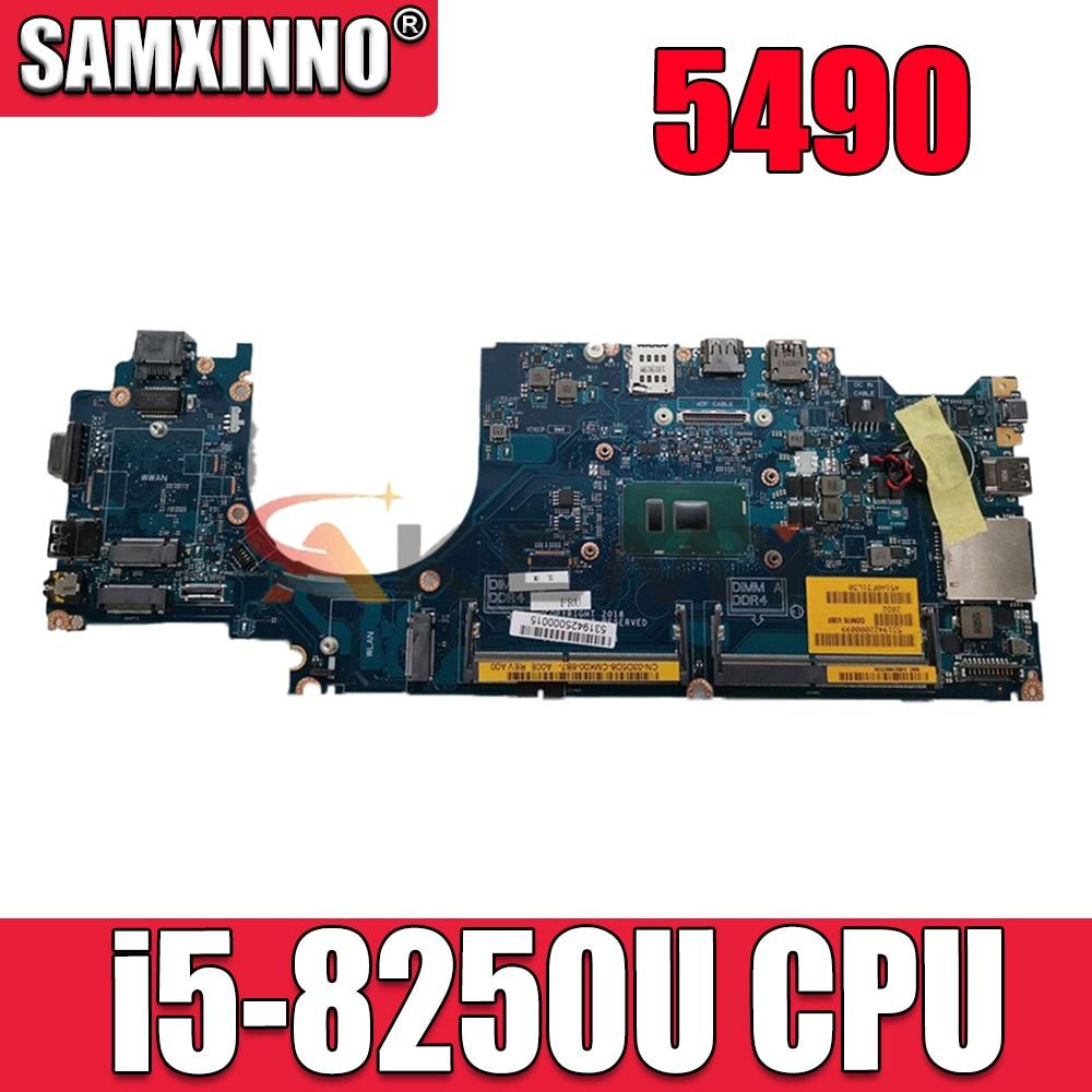 لديل 5490 اللوحة المحمول SR3LB i5-8250U وحدة المعالجة المركزية مع CN-0869T9 0869T9 869T9 LA-F401P 100% العمل جيدا